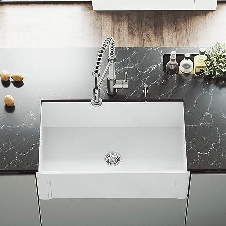 36 inch kitchen sink art for the vigo vgra3018sl 91 44 cm 单人盆地哑光石farmhouse 厨房水槽