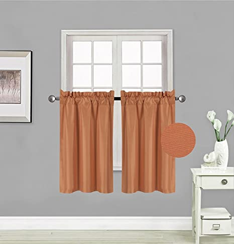 kitchen curtains amazon table with 8 chairs fancy collection 2 幅窗帘遮光窗帘隔热实心杆孔顶部遮光帘每个面板尺寸 幅窗帘遮光窗帘隔热实心杆孔顶部遮光帘每