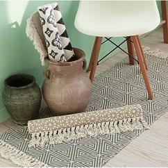 Kitchen Rugs Amazon Wooden Trash Cans Homcomoda 棉格子花纹小地毯手工编织厨房地板毯可洗地毯设计 1 23 6 By