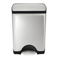 13 Gallon Kitchen Trash Can Small Island With Storage Simplehuman 矩形脚踩式不锈钢垃圾桶30升 8 加仑 价格