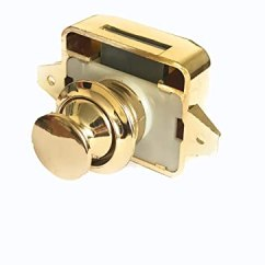 Kitchen Cabinet Latches Degreaser Amt Gold Key Less 按钮橱柜闩锁适用于rv Motor Home Cupboard Caravan