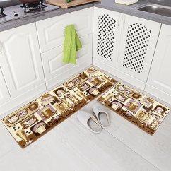 Amazon Kitchen Mat Aid Cooktop Carvapet 2 件套超细纤维防滑厨房垫橡胶底门垫跑步毯套装coffee Brown 件套超细纤维防滑厨房垫橡胶底门垫跑步毯