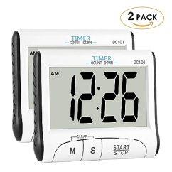 Digital Kitchen Timers Storage 厨房计时器 Houswilltm 数字厨房计时器磁铁 用于烹饪 时钟计时器带 时钟