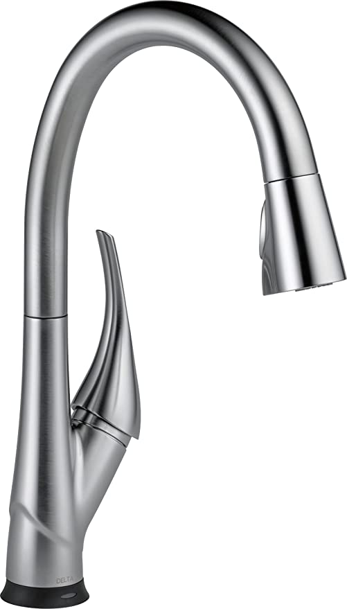stainless steel kitchen faucet with pull down spray kitchens ideas delta esque 单手柄下拉式厨房水龙头不锈钢色9181t ar dst