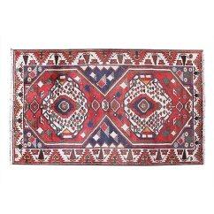 Kitchen Rugs Amazon Table Light Fixture Hesamcrafts 手工编织复古红蓝色羊毛小地毯 10 16 厘米x 17 78 厘米