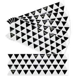 Mosaic Backsplash Kitchen Solid Wood Tables 家居装饰三角马赛克厨房浴室美人3d 壁纸贴纸瓷砖 安装简单灵活 可拆卸