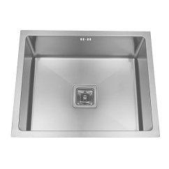 Square Kitchen Sink Pull Down Faucets Enki 不锈钢厨房水槽底座 方形 手工后制完成 单槽 家居装修 亚马逊中国