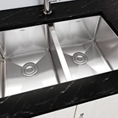 Kitchen Sink Grids Locking Cabinets Ancona An 3321 Prestige 系列手工制作底托不锈钢71 12 Cm 50 双层