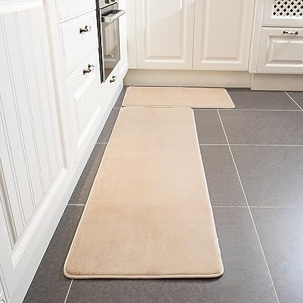 amazon kitchen mat modular outdoor frames 厨房地毯套装 leevan 海绵厨房舒适垫 软地毯超细纤维法兰绒布地毯防滑 软地毯超细纤维