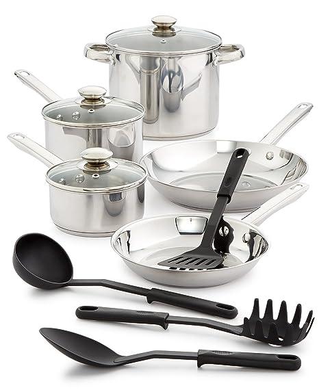 kitchen utensil sets ss sinks bella 12 件套不锈钢厨具套装 价格报价图片 海外购美亚直邮