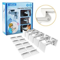 Kitchen Cabinet Latches Commercial Doors 橱柜锁儿童 Weguard 10 个装 升级 隐形婴儿抽屉柜锁闩 无需工具 无需 隐形婴儿抽屉柜