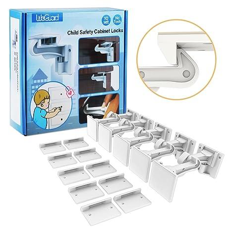 kitchen cabinet latches sink size 橱柜锁儿童 weguard 10 个装 升级 隐形婴儿抽屉柜锁闩 无需工具 无需 隐形婴儿抽屉柜