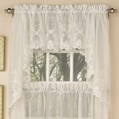 Valances For Kitchen Windows Aid Ovens Sweet Home 系列选择层帷幔厨房窗帘embroidered Ivory Swag Lhf 6705