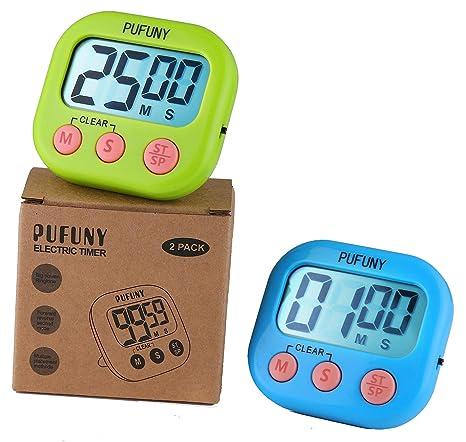 digital kitchen timers toy sets pufuny 数字厨房计时器 烹饪计时器 教师电子计时器 儿童 大显示屏