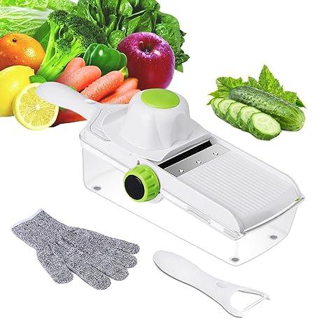 mandolin kitchen slicer coolest gadgets e gtong 可调节曼陀林切片机 手持蔬菜切片机 蔬菜julienne 切片机