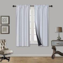 Kitchen Curtain Panels Sinks Elegant Home 2 片分层小窗帘仿丝隔热 遮光窗帘短板76 厘米宽x 91 44 遮光窗帘短