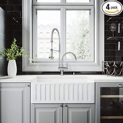 Farmhouse Kitchen Faucet Bronze Pull Down Vigo 76 20 厘米农舍围裙单碗哑光石厨房水槽和dresden 镀铬水龙头套装