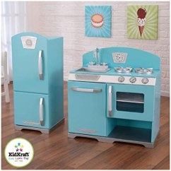 Retro Kids Kitchen White Decor Kidkraft 复古式儿童厨房蓝色 玩具 亚马逊中国