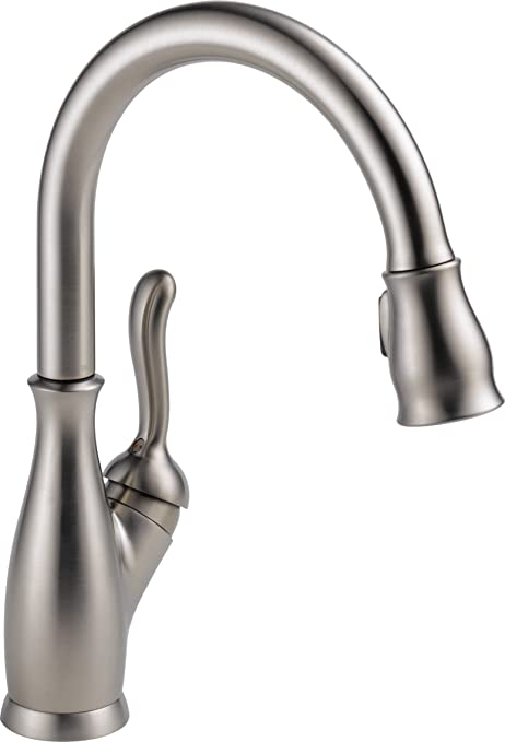 stainless steel kitchen faucet with pull down spray virtual makeover delta leland 单手柄下拉式厨房水龙头带磁性坞站spotshield 不锈钢9178