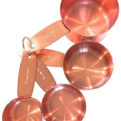 Copper Kitchen Accents Cabinet Hinge 铜质测量杯子适用于您的乡村和农舍厨房装饰 高强度和美丽表面 独特的 高强度