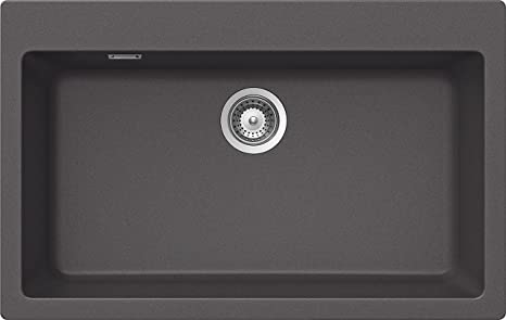 gray kitchen sink german cabinets shock primus n100 xl 厨房水槽石质灰色79 50 22 厘米 家居装修