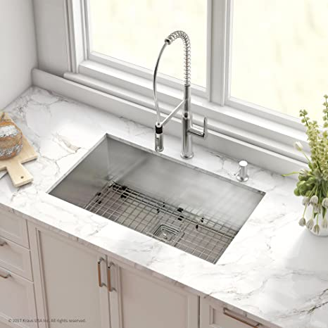 stainless steel undermount kitchen sinks padded chairs kraus khu32 1650 41ch 组合装 带pax 底底座不锈钢78 74 cm 单碗16 号