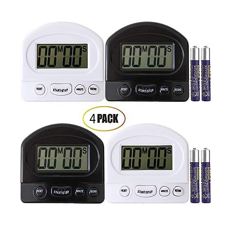 digital kitchen timers what is the average cost for cabinets ruyixws 数字厨房计时器 大液晶显示屏 大闹钟 磁性背带支架 外观 磁性背带