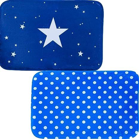 pottery barn kitchen rugs wine decorations for 两件套舒适地毯适合家居 蓝星和圆点版儿童房的完美装饰 印有独特彩色 蓝星和圆点版儿童房