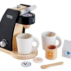 Toy Kitchen Sets Antique Islands Hape 咖啡时间两只木质咖啡制作器玩具厨房套装 玩具 亚马逊中国