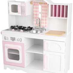 Kid Craft Kitchen Storage Ideas Kidkraft 53222 现代乡村厨房 Wooden Kids Play 乡村风格拼接 乡村风格拼接橱柜和织物