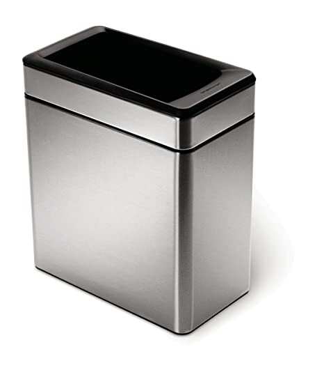 simplehuman kitchen trash can apartment cabinet ideas 开放式箱拉丝钢 轮廓10 l cw1225 价格报价