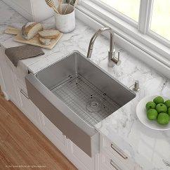 Kitchen Sink Farmhouse Wooden Cabinets Kraus Khf200 30 2620 41ss 厨房水槽和水龙头组合76 2 厘米碗16 号农舍单 厘米碗