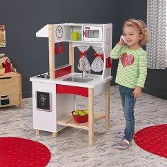 Kidkraft Toy Kitchen Herringbone Backsplash 美国kidkraft摩登岛玩具橱柜儿童过家家仿真厨房做饭煮饭 玩具 亚马逊中国