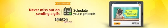 Schedule your gift cards