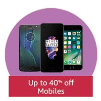 Up to 40% off on Mobiles
