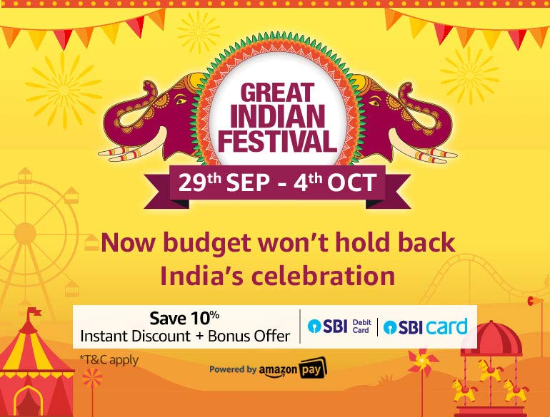 Amazon Great Indian Festival 29th sep - 4th oct