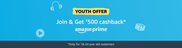 Youth offer on Amazon Prime @ Amazon.in