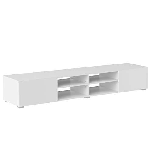 Marchio Amazon -Movian Lijoki - Mobile TV, 185 x 31 x 42 cm (L x P x A), colore bianco