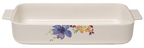 Villeroy & Boch Mariefleur Basic Teglia, 30X20 cm, Porcellana Premium, Bianco/Multicolore