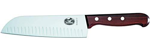 Victorinox, Coltello Cucina Giapponese Santoku Küchen Palisandergriff Kullenschliff in...