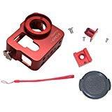 Maximalpower Premium aluminum Rig telaio custodia con filtro UV da 37mm e cinghia per GoPro Hero 4, colore rosso