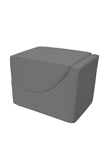 13Casa - Cleo A1 - Pouff chaise longue trasformabile. Dim: 50x70x50 h cm. Col: Rovere grigio. Mat: Ecopelle.