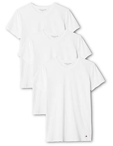 Tommy Hilfiger Herren Unterhemd Vn Tee ss 3 Pack Premium Essentials, 3er, Weiß (White 100), Small
