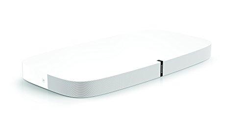 Sonos Playbase WLAN Soundbase, weiß - Fernsehlautsprecher mit kraftvollem Sound für Heimkino & Musikstreaming - Erweiterbarer WLAN Speaker mit Airplay