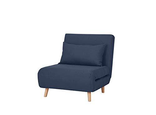Marchio Amazon - Movian Scutari - Poltrona letto, 77 x 90 x 81 cm, blu scuro