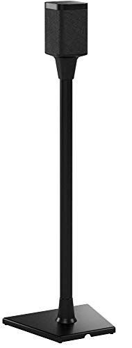 Sanus Wireless Sonos Speaker Stand for One, PLAY:1, & PLAY:3 - Audio-Enhancing Design With Built-In Cable Management Pair (Black) WSS22-B1