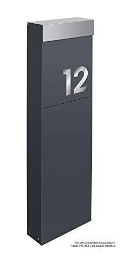 Frabox® Design Standbriefkasten NAMUR anthrazitgrau RAL 7016 / Edelstahl - Made in Germany! - 4
