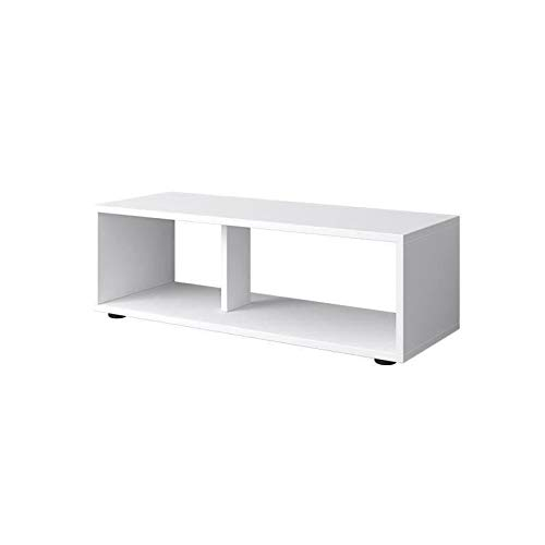 BOOM Meuble TV contemporain blanc mat - L 80 cm