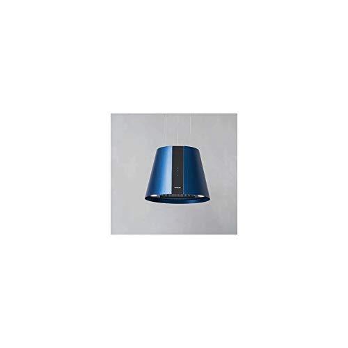 PURE PLUS - Cappa da cucina filtrante, ad isola, larghezza 50 cm, colore Blu/Antracite