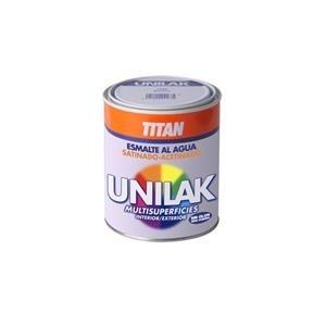 Titan M3525 - Esmalte al agua unilak satinado blanco 375 ml